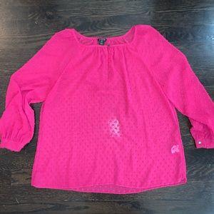 J. Crew Pink Blouse. XS